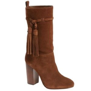 Vince Camuto Fermel Suede Slouch Heel Boots